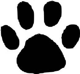 jaguar paw print in gold clip at clker vector