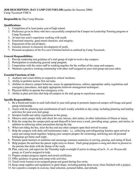 Resume Sle Summer C Counselor Resume For College Students Sales Counselor Lewesmr