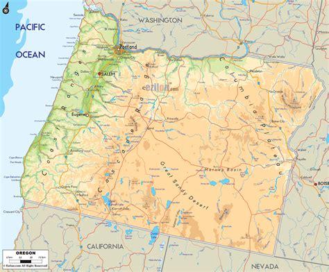 oregon river map