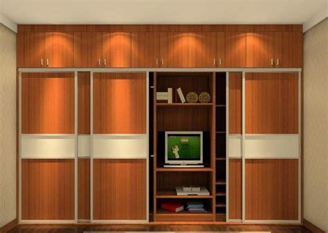 with tv wardrobe bedroom 3d house