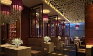 Bedroom Wall Partitions Purple Lighting And Wooden Fence In Luxury West Restaurant