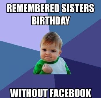 Sister Happy Birthday Meme