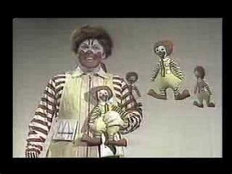 donald doll commercial mcdonalds commercial doll w willard as ronald