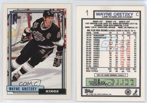 La Kings Gift Cards - 1992 93 topps 1 wayne gretzky los angeles kings hockey card ebay