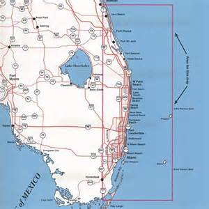 map of florida southeast coast southeast florida offshore top spot charts miami to