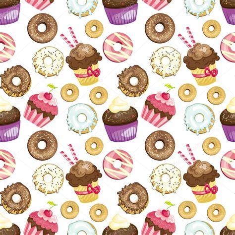 dolci diversi fondo senza cuciture con diversi dolci e dessert