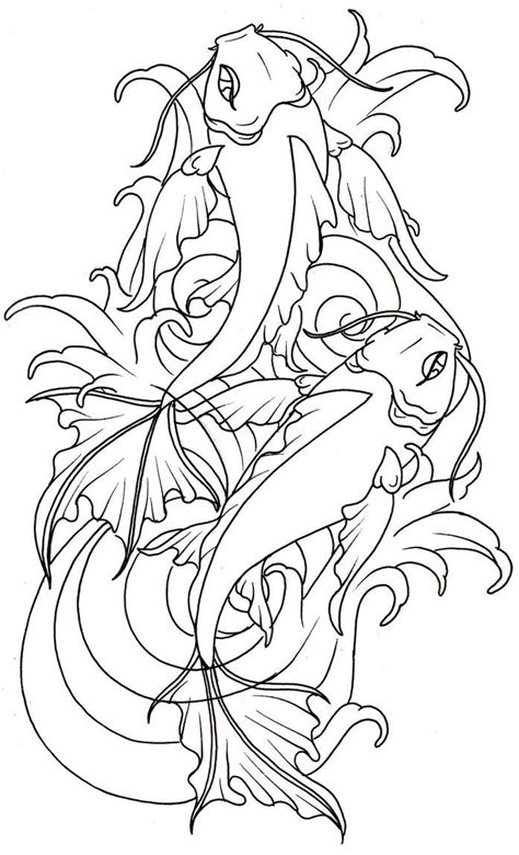 japanese koi tattoo designs free collection of 25 coloring pages of a koi fish