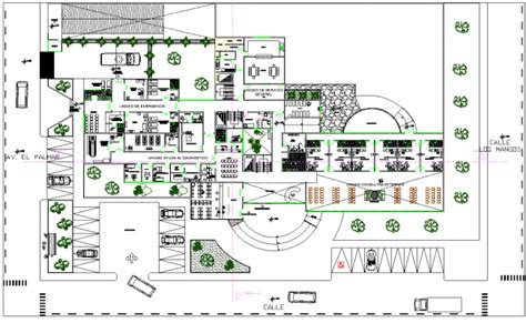layout design of a hospital hospital layout plan design autocad file