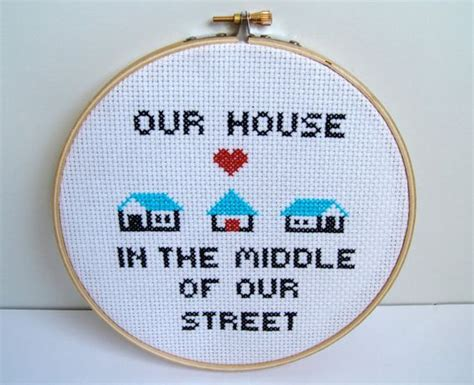 our house in the middle of our street our house in the middle of our street madness cross stitch music lyrics for 80s