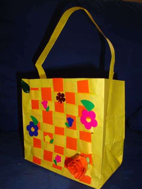 Paper Purse Craft - paper bag easter basket craft rachael edwards