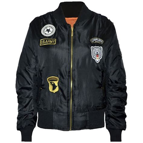 Sale Army Bomber Jacket new womens combat badge airforce bomber jacket us army vintage biker coat ebay