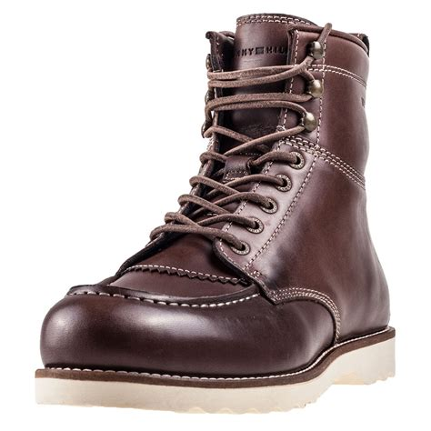 hilfiger mens boots hilfiger rudy 1a mens boots in coffee