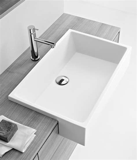 standard semi recessed sink wash basins wash basins washbasins minimal milldue