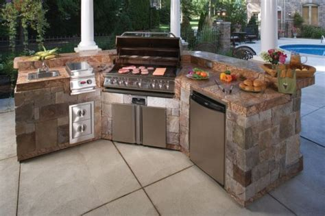 prefab outdoor kitchen cabinets ideas for your own prefab outdoor kitchens precast