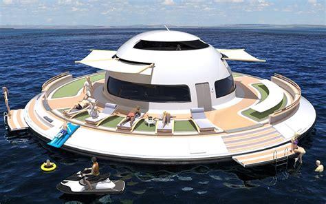 Three Bedroom House Floor Plans Jet Capsule S Ufo 2 0 Houseboat Launching On Kickstarter