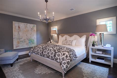 gray walls contemporary bedroom benjamin