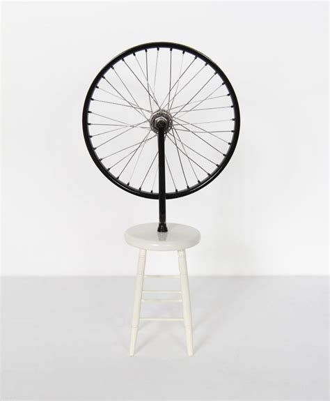 Mini Stool With Wheels by Marcel Duch Readymade Mini Mixed Media Sculpture With
