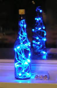 lights inside wine bottle blue glass bottle light with white led lights inside