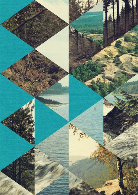 shape pattern collage quivering forest by jelle martens oen