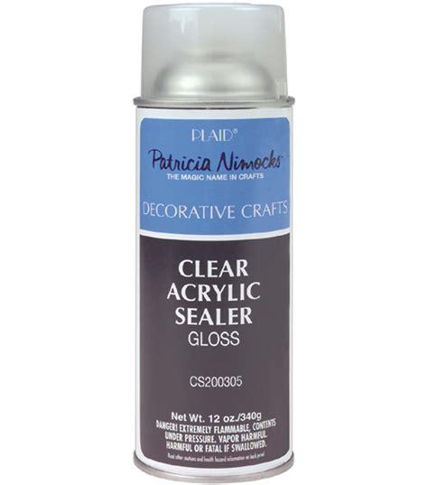 acrylic paint sealer plaid clear acrylic sealer gloss matte 12 oz jo