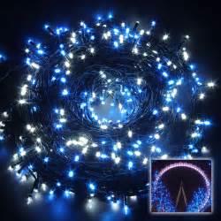 blue string lights 100m 500leds white blue string lights lighting tree