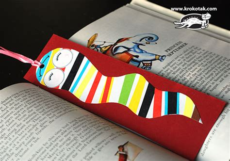 Bookworm Bookmark Template by Krokotak Bookworm Bookmark