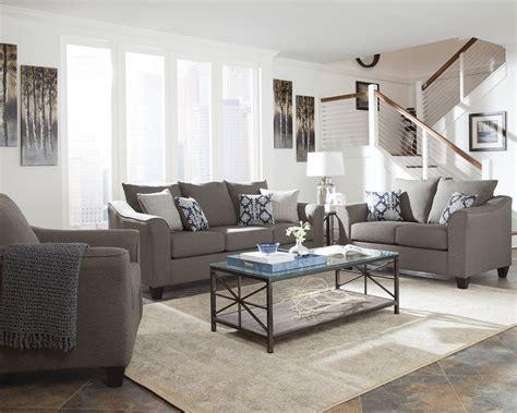 full living room sets salizar grey fabric flared arm full foam seat cushion