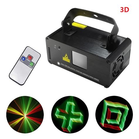 professional laser light show projector 3d dmx512 effects rgy red green yellow laser scanner