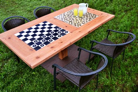 diy board table diy outdoor checkers table black decker black decker