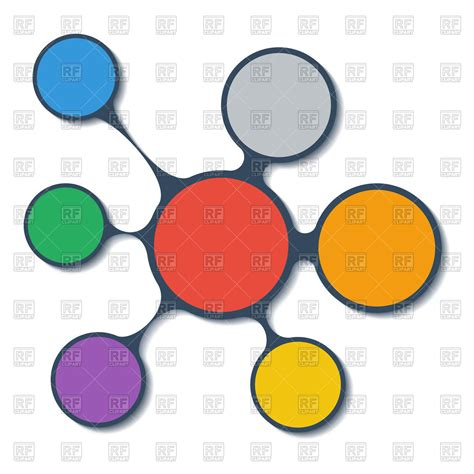 circles free clip free clip on infographics scheme with connected circles vector image