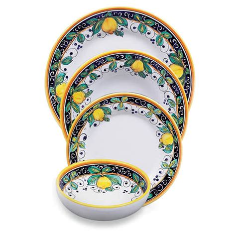 alcantara place setting italian pottery outlet