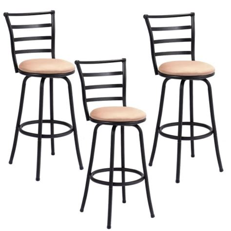 Set Of 3 Counter Height Stools by Set Of 3 Steel Frame Counter Height Modern Swivel Bar