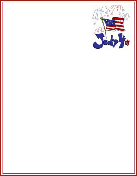 patriotic stationery printable create free custom patriotic letterhead and children s