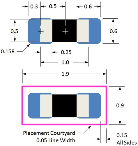 yageo resistor land pattern 0402 min size land pattern pcb libraries forum page 1