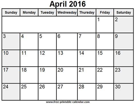 calendar layout april 2016 printable calendar april 2016 187 calendar template 2018
