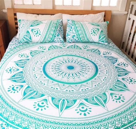 mandala queen bed cover  pillow covers material