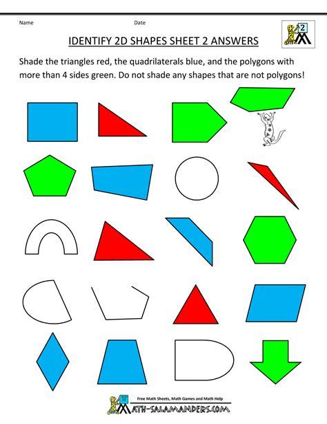 printable irregular shapes 2d shapes worksheets