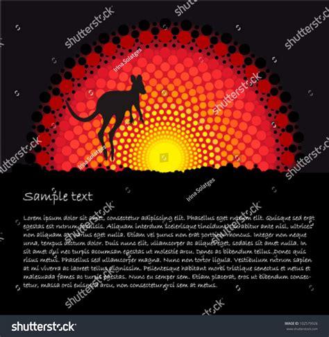 Email Address Search Australia Australia Aboriginal Stylized Vector Background With Jumping Kangaroo 102579926