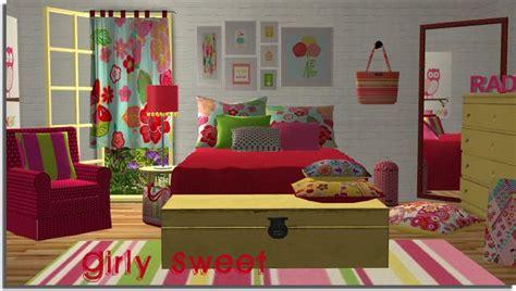 sims  creations  tara girly bedroom seating  sleeping pinterest girly bedrooms