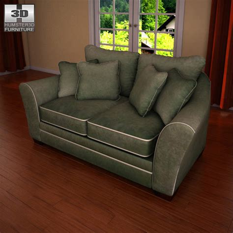 durapella sofa ashley durapella loveseat 3d model hum3d