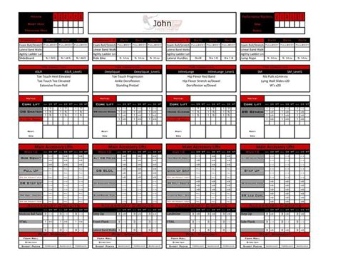 excel personal training templates fitness industry