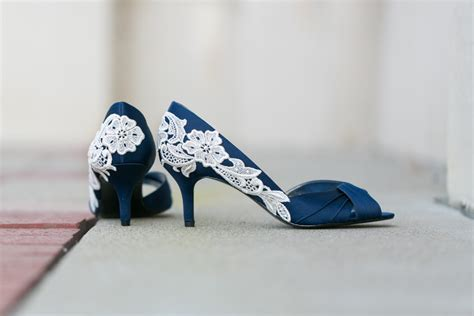 Navy Blue Bridal Heels by Wedding Shoes Navy Blue Wedding Heels Bridal Shoes By