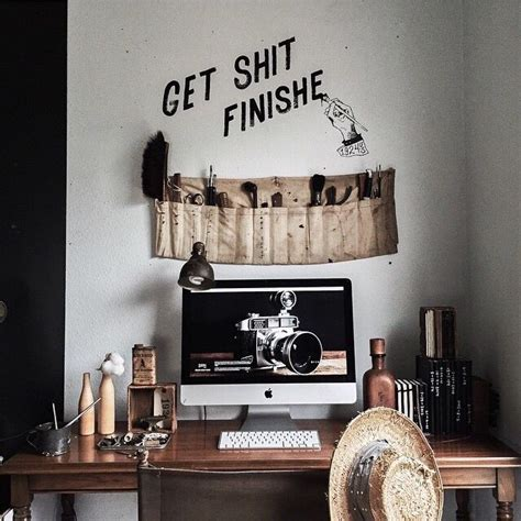 home decor bc quot get sh t finished quot desk bedroom rustic