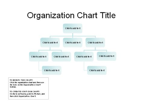 organizational chart basic layout chart templates