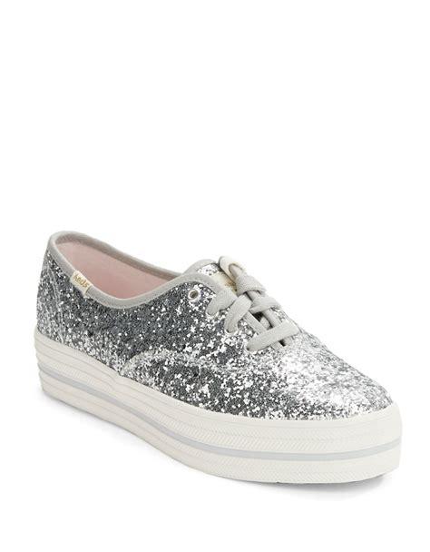 kate spade keds for kick glitter platform sneakers