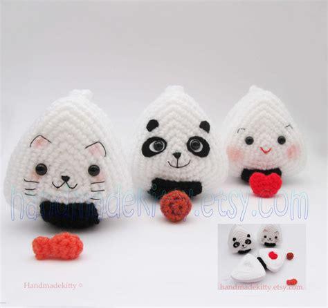 amigurumi onigiri pattern handmadekitty japanese onigiri dolls kitty panda with