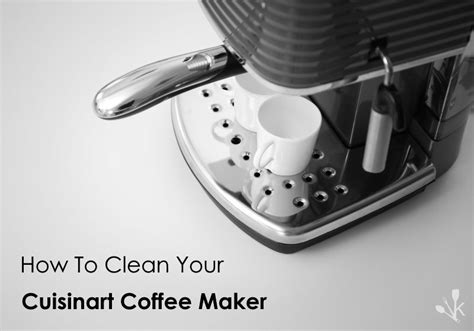 How To Clean A Cuisinart Coffee Maker   KitchenSanity