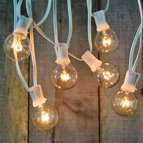 Patio Light Strands Globe Patio String Lights White Cord Icamblog