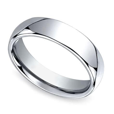 comfort fit rings comfort fit men s wedding ring in cobalt 6mm image 01