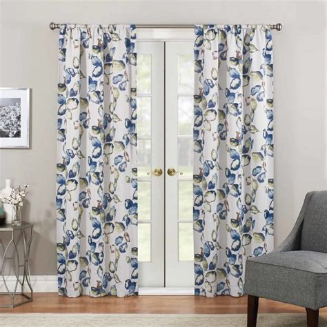 thermaweave curtains floral paige thermaweave blackout curtain panel eclipse
